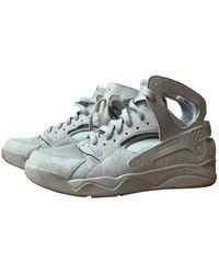 Nike Huarache Leather High Trainers - Grey