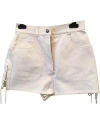 Chanel White Denim - Jeans Shorts