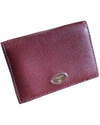 Lancel Leather Purse - Purple