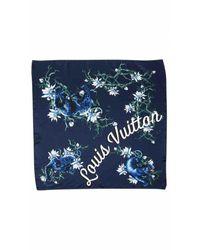 Louis Vuitton Blue Silk Scarves
