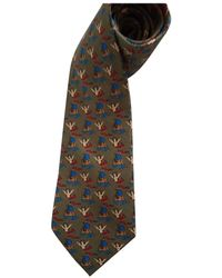 Hermès Seide Krawatten - Natur