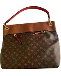Louis Vuitton Tuileries Brown Cloth Handbag - Multicolor
