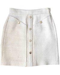 Maje Mini falda Spring Summer 2019 Tweed - Blanco