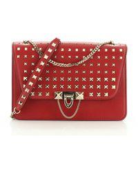 Valentino Demilune Red Leather Handbag
