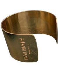 Balmain Gold Metal Bracelet - Green