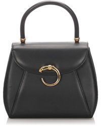 Cartier Panthère Leather Handbag - Black