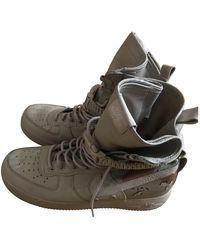 Nike Sf Air Force 1 Cloth High Sneakers - Natural