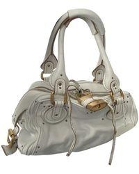 Chloé Paddington Leather Handbag - White