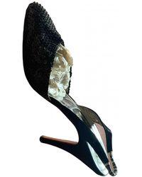 Rene Caovilla Glitter Heels - Metallic