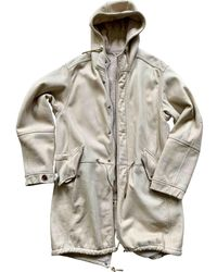Louis Vuitton Abrigo en oveja beige - Neutro