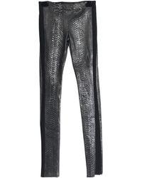 Haider Ackermann Anthracite Python Trousers - Grey