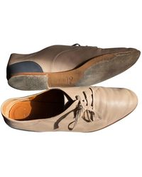 Chloé Leather Lace Ups - Natural