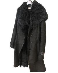Karen Millen Leather Coat - Black