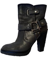 Belle By Sigerson Morrison Leather Buckled Boots - Black