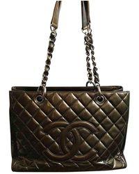 Chanel Sac à main Grand shopping en cuir - Vert