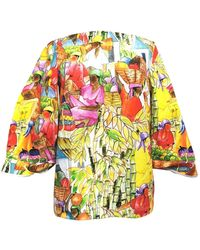 Stella Jean Top \N en Coton Multicolore