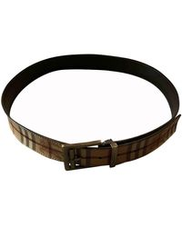 Burberry Cloth Belt - Brown