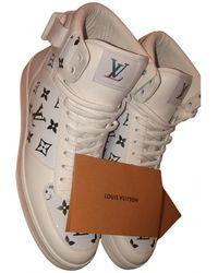 Louis Vuitton LV Trainer Leder Hohe turnschuhe - Weiß