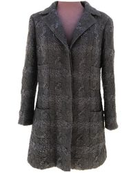 Chanel Wool Coat - Black