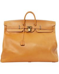 Hermès Birkin Voyage Camel Leather Travel Bag - Multicolour