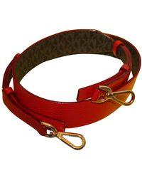 Michael Kors Leather Belt - Red