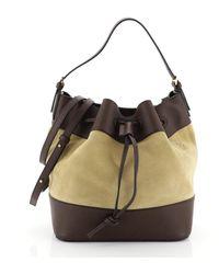 Loewe Midnight Brown Leather Handbag