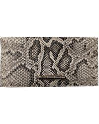 Givenchy Obsedia Python Clutch Bag - Gray