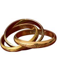 Cartier Bijou Trinity en or jaune - Marron