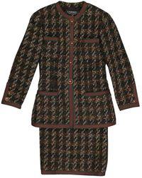 Chanel Chaqueta en lana multicolor - Negro