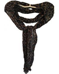 Maje Black Cotton Scarf