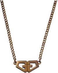 Givenchy Vintage Gold Metal Long Necklaces - Multicolour