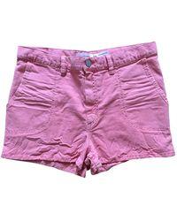Étoile Isabel Marant Shorts en Coton - elasthane Rose