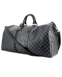 Louis Vuitton Sac Keepall en Toile Gris