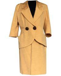 Dior Seide Kostüm - Gelb