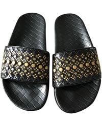 Bottega Veneta Leather Mules - Black