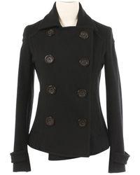 Burberry - Black Wool Coats - Lyst
