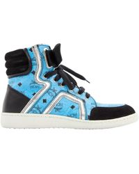 MCM - Leather Trainers - Lyst