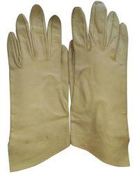 Hermès Yellow Leather Gloves