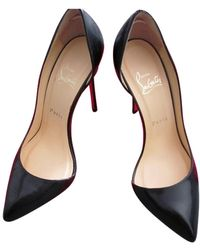 Christian Louboutin - Black Leather Heels - Lyst