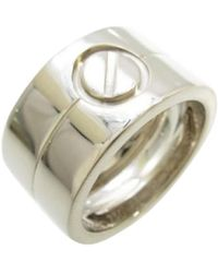 cartier preowned love white gold ring lyst