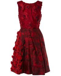 Oscar de la Renta Red Polyester Dress