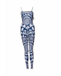 Mara Hoffman Blue Synthetic Jumpsuits