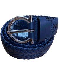 Ferragamo Leder Gürtel - Blau