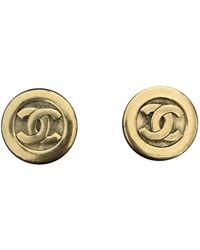 Chanel Orecchini in metallo dorato - Metallizzato