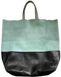 Celine Cabas Leder Handtaschen - Grün