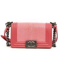 Chanel Boy Pink Stingray Handbag