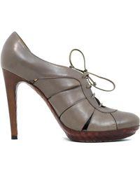 Bottega Veneta Leather Heels - Grey