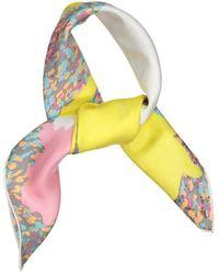 Dior Foulards en Soie Multicolore - Jaune