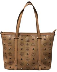 MCM Anya Leather Handbag - Brown