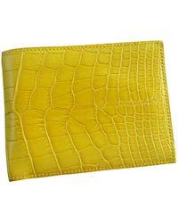 Hermès Mc2 Yellow Alligator Small Bag Wallet & Case